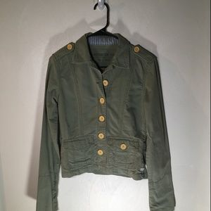 Olive Green Hollister Jacket Small
